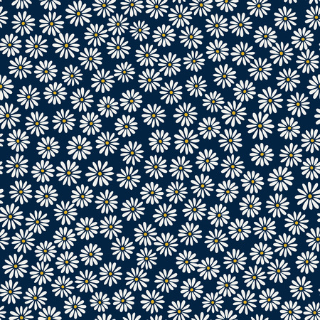 Daisy background - vector seamless pattern  イラスト・ベクター素材