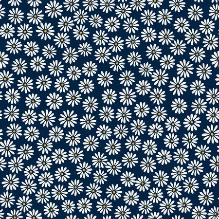 Daisy background - vector seamless pattern Stock Illustratie