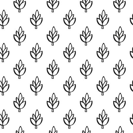 Boho style plant seamless pattern
