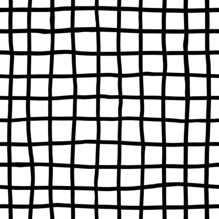grid pattern: Ink lines grid - seamless pattern Illustration