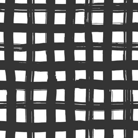 Ink lines grid - seamless pattern Illustration