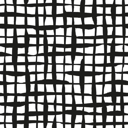 grid: Ink lines grid seamless pattern