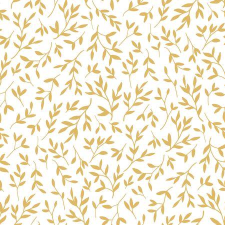 Leaves - vector seamless pattern background Illustration