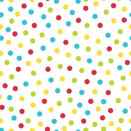 Colorful spots - vector seamless pattern
