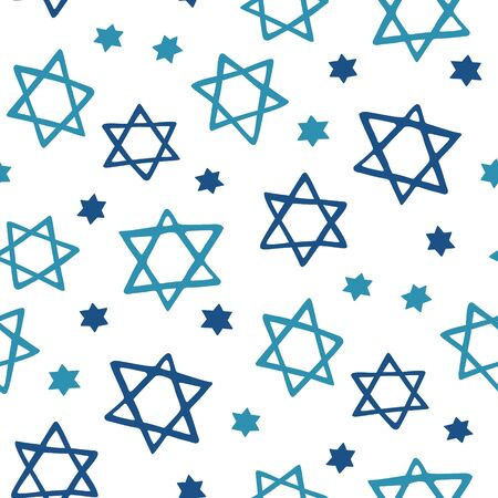 Stars of David seamless pattern Illustration