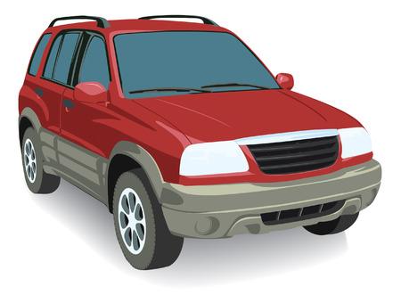 mode of transport: Coche Vector aisladas sobre fondo blanco, sin transparencia y gradientes