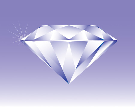 Bright shining diamond, vector illustation Vector