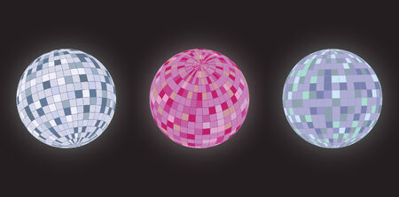 Disco balls, different perspectives and colour spectrum Stock Vector - 5415055