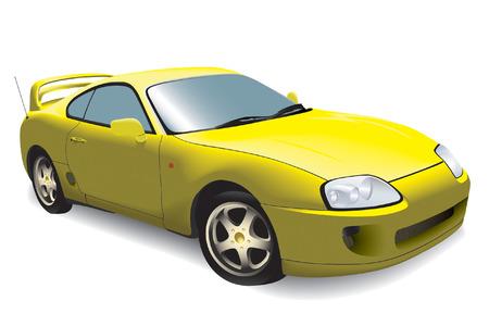 martinet: de voiture de sport isol� sur fond blanc