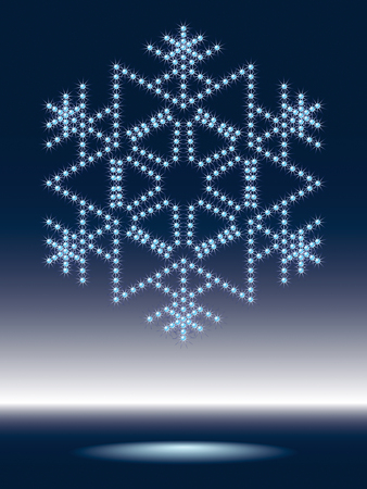 waterdrops: shiny snowflake made from sparkling waterdrops Illustration