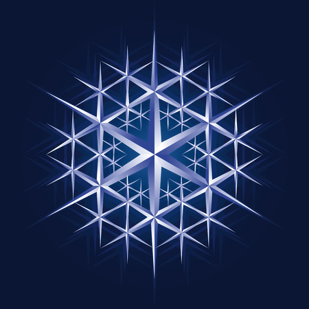 ice crystal snow flake,illustration Stock Vector - 5698078