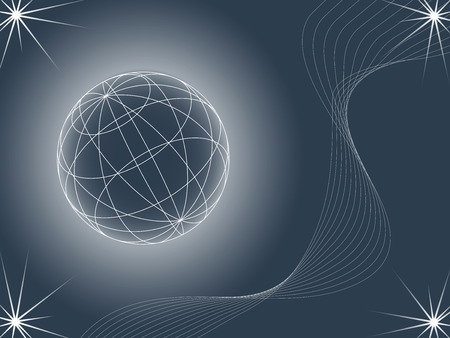 abstract background looking like globe, vector illustration Vector