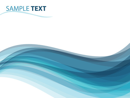 abstract background like ocean waves, illustration Vector