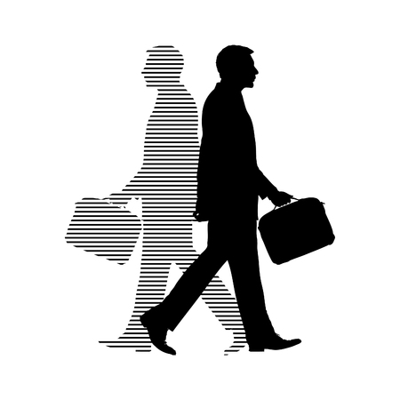 Silhoutte Man Shadow Walking Bag