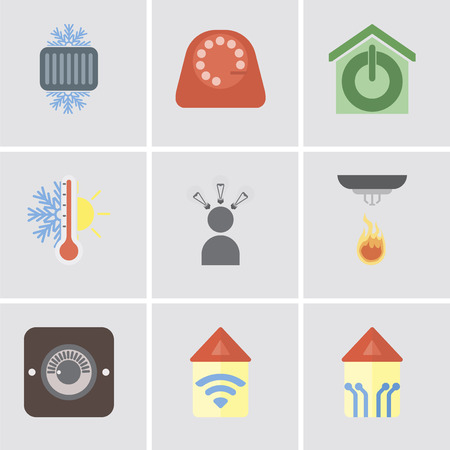 Set Of 9 simple editable icons such as Smart home, Automation, Dimmer, Sensor, Smart, Thermostat, Dial, Cool, can be used for mobile, pixel perfect vector icon pack