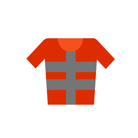 Lifejacket icon vector isolated on white background for your web and mobile app design Ilustração