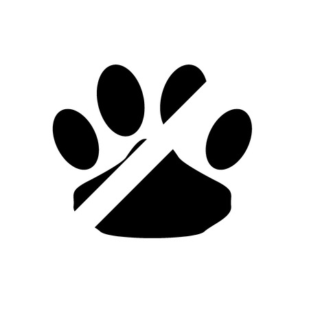 No pets icon vector isolated on white background for your web and mobile app design
