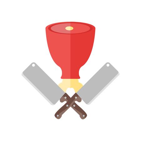 Slager pictogram vector geïsoleerd op een witte achtergrond voor uw web en mobiele app design
