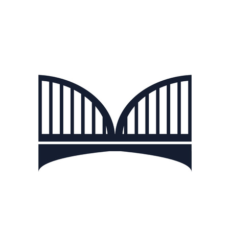 Bridge icon vector isolated on white background for your web and mobile app design Illustration
