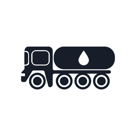Tank truck icon vector isolated on white background for your web and mobile app design