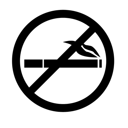 No smoking icon vector isolated on white background for your web and mobile app design, No smoking icon concept  イラスト・ベクター素材