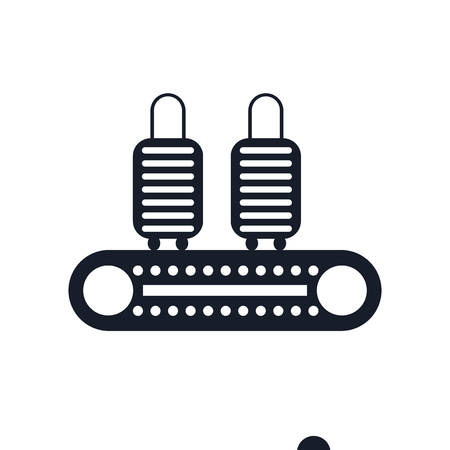 Conveyor icon vector isolated on white background for your web and mobile app design, Conveyor icon concept