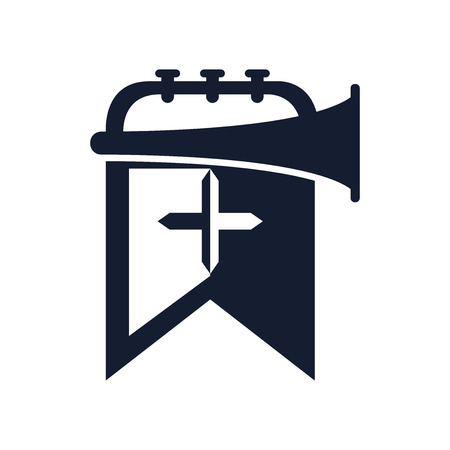 Trumpet icon vector isolated on white background for your web and mobile app design Banque d'images - 107139349