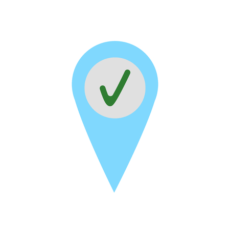 Check in icon vector isolated on white background for your web and mobile app design Иллюстрация