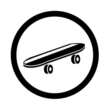 Skateboard icon vector isolated on white background for your web and mobile app design Ilustracja