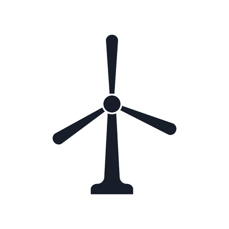 Windmill icon vector isolated on white background for your web and mobile app design Illustration