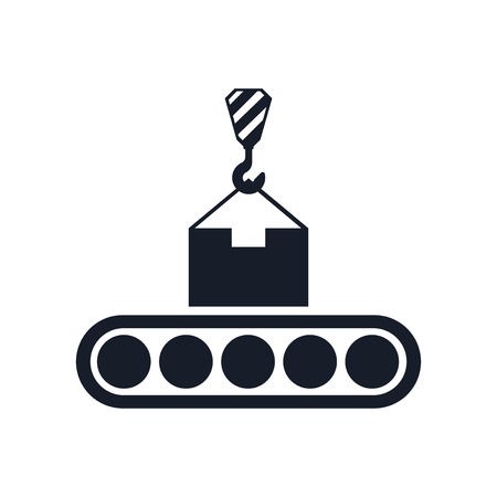 Conveyor icon vector isolated on white background for your web and mobile app design