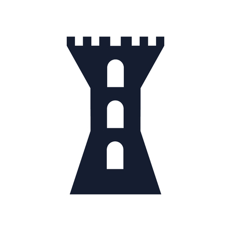 Tower icon vector isolated on white background for your web and mobile app design