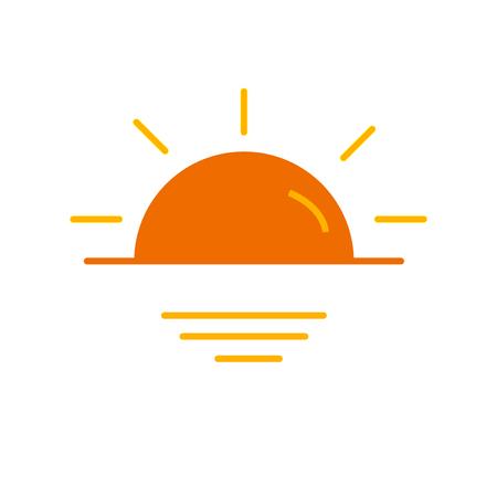 Sonnenuntergangsikonenvektor lokalisiert auf weißem Hintergrund für Ihr Web- und mobile App-Design Vektorgrafik