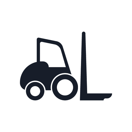 Forklift icon vector isolated on white background for your web and mobile app design