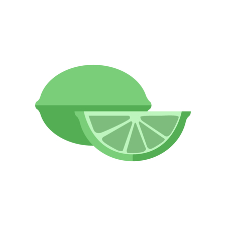 Lime icon vector isolated on white background for your web and mobile app design