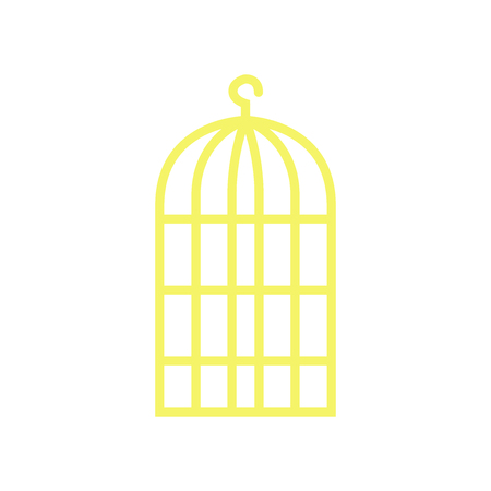 Bird cage icon vector isolated on white background for your web and mobile app design Çizim