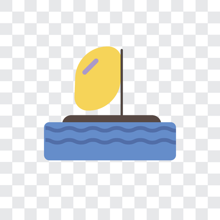 Parasailing vector icon isolated on transparent background