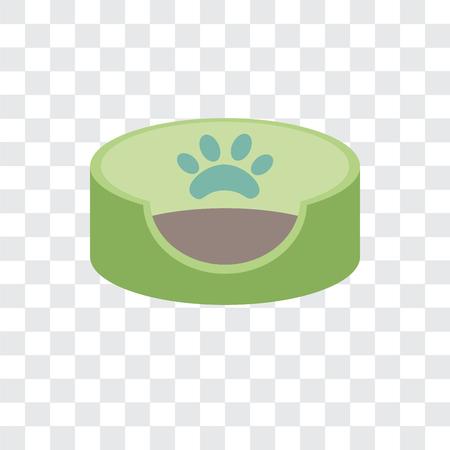 Icône de vecteur de lit pour animaux de compagnie isolé sur fond transparent