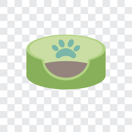 Pet bed vector icon isolated on transparent background Vectores