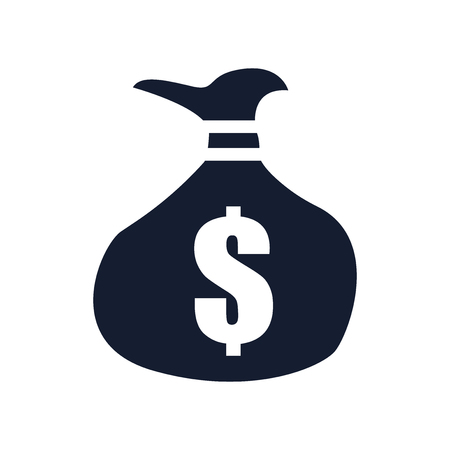 Money bag icon vector isolated on white background for your web and mobile app design  イラスト・ベクター素材
