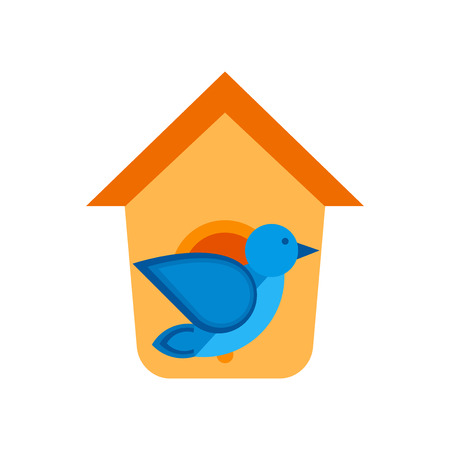 Bird house icon vector isolated on white background for your web and mobile app design 向量圖像