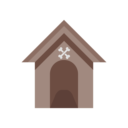 Kennel icon vector isolated on white background for your web and mobile app design Archivio Fotografico - 107141149