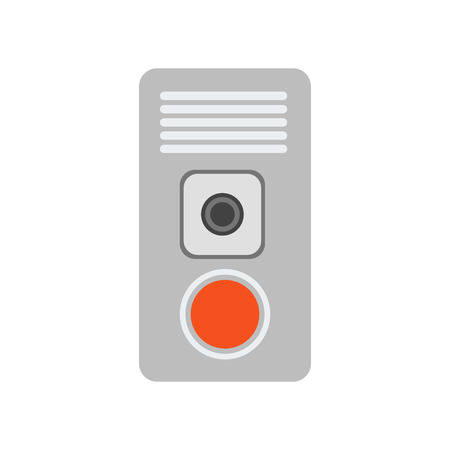 Intercom icon vector isolated on white background for your web and mobile app design Illustration