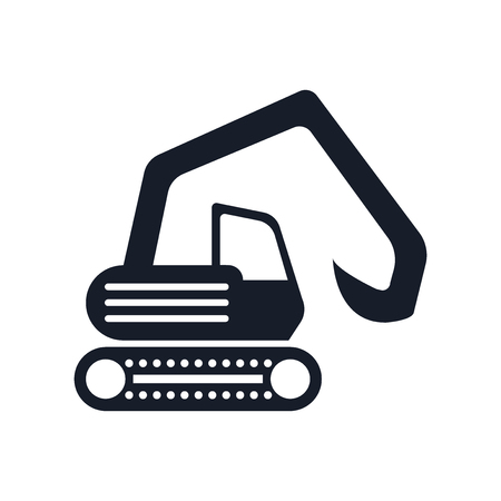 Digger icon isolated on white background for your web and mobile app design