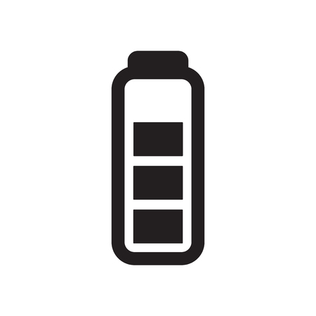 Battery icon vector isolated on white background for your web and mobile app design