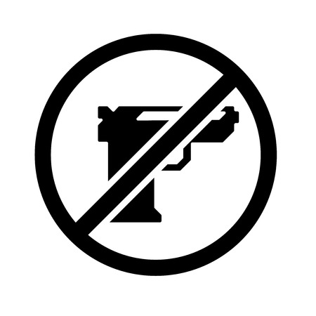 Gun icon vector isolated on white background for your web and mobile app design Illustration