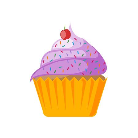Cupcake-Symbolvektor lokalisiert auf weißem Hintergrund für Ihr Web- und mobiles App-Design