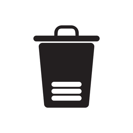 Trash icon vector isolated on white background for your web and mobile app design
