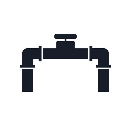 Rohrsymbolvektor lokalisiert auf weißem Hintergrund für Ihr Web- und mobiles App-Design