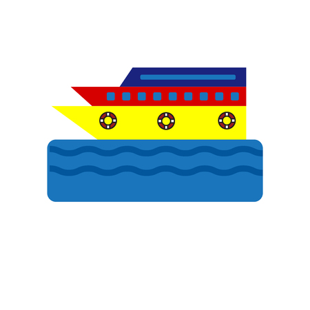Cruise icon vector isolated on white background for your web and mobile app design Illustration